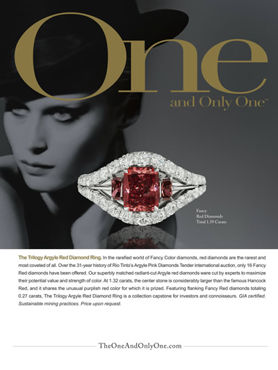 The Trilogy Argyle Red Diamond Ring