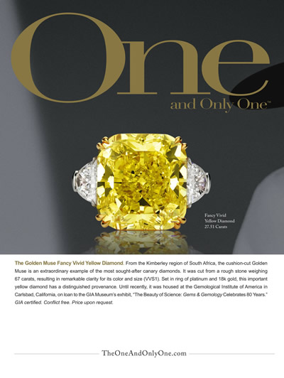 The Golden Muse Fancy Vivid Yellow Diamond Ring